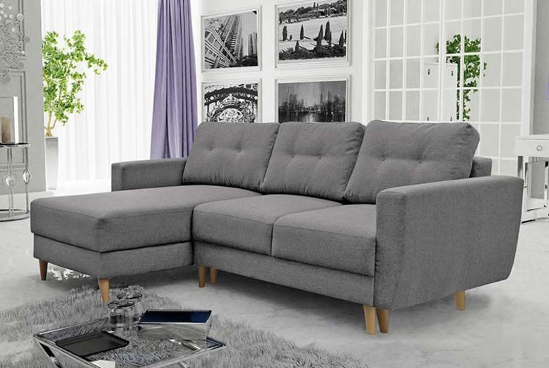 Bertram Scandi L-Shaped Sofa Bed | Frugl